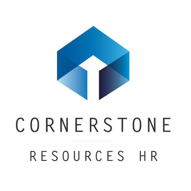Cornerstone logo with HR vertical